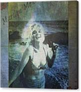 Marilyn Monroe At The Beach Canvas Print
