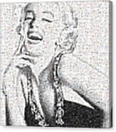 Marilyn Monroe In Mosaic Canvas Print