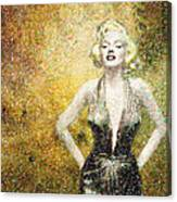 Marilyn Monroe In Points Canvas Print