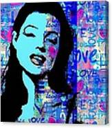 Marilyn Monroe.  Loved And Lost. Loved Again Canvas Print