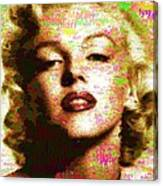 Marilyn Monroe Name Characters Canvas Print