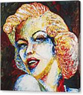 Marilyn Monroe Original Palette Knife Painting Canvas Print