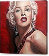 Marilyn Monroe - Red Canvas Print