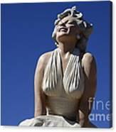 Marilyn Monroe Statue 2 Canvas Print
