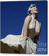 Marilyn Monroe Statue 3 Canvas Print