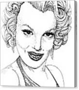 Marilyn Monroe -stipple Canvas Print