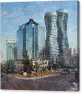 Marilyn Monroe Towers Canvas Print