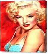 Marilyn Monroe Tribute In Red Canvas Print