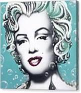 Marilyn Monroe Turquoise Canvas Print