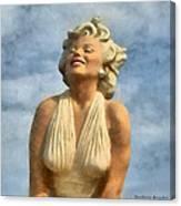 Marilyn Monroe Watercolor Canvas Print