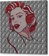 Marilyn Monroe Zebra Canvas Print