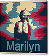 Marilyn Poster Canvas Print