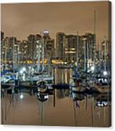 Marina Along Stanley Park In Vancouver Bc Canvas Print
