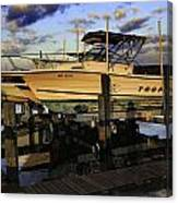 Marina At Dawn Canvas Print