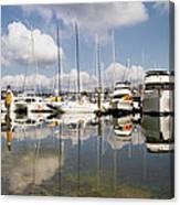 Marina At Granville Island Vancouver Bc Canvas Print