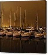 Marina At Night Canvas Print