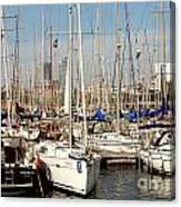 Marina At Port Vell Barcelona Canvas Print