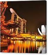 Singapore Cityscape At Marina Bay Sands Canvas Print