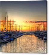 Marina Summer Sunset Canvas Print