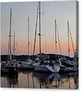 Marina Sunset Afterglow Canvas Print