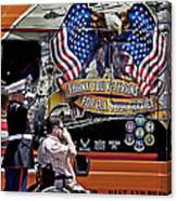 Marine And Wounded Warrior Canvas Print