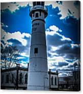 Marine City Michigan Lighthouse Canvas Print