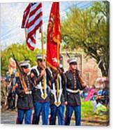 Marine Color Guard - Paint Canvas Print