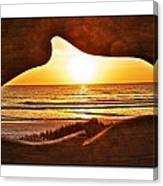 Marineland's Sunrise Dolphin Canvas Print