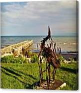 Marineres Trail Between Manitowoc And Two Rivers Wi Canvas Print
