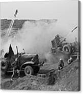 Marines Launch Rockets Toward Japanese Canvas Print
