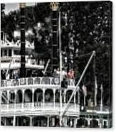 Mark Twain Riverboat Frontierland Disneyland Vertical Sc Canvas Print