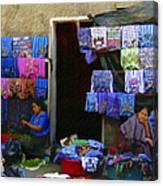 Market At Santiago Atitlan Guatemala Canvas Print
