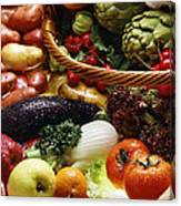 Market Basket Canvas Print
