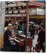 Market Busker 10 Canvas Print