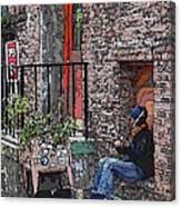 Market Busker 15 Canvas Print