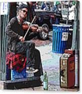 Market Busker 18 Canvas Print