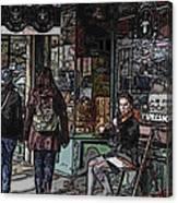 Market Busker 8 Canvas Print