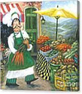 Market Chef Canvas Print