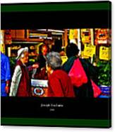 Market Day In Chinatown  Canvas Print