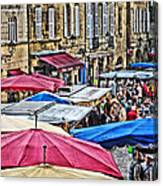Market Day In Sarlat Canvas Print