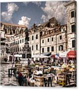 Market Day In The White City Canvas Print