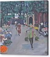 Saigon Market Day Canvas Print