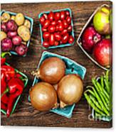 Market Fruits And Vegetables Canvas Print