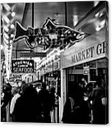 Market Grill In Pike Place Market Canvas Print