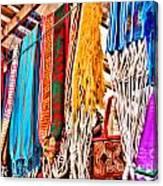 Market Hammocks In El Casco By Diana Sainz Canvas Print