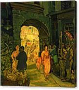 Market In Paris Canvas Print