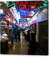 Market Lights Canvas Print