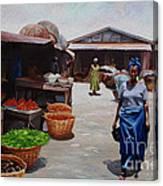 Market Scene Canvas Print
