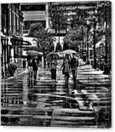 Market Square In The Rain - Knoxville Tennessee Canvas Print