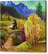 Markleeville Hillside Canvas Print